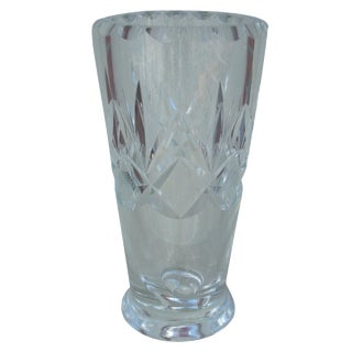 Orrefors Cut Clear Crystal Vase