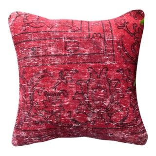 Red Turkish Rug Pillow