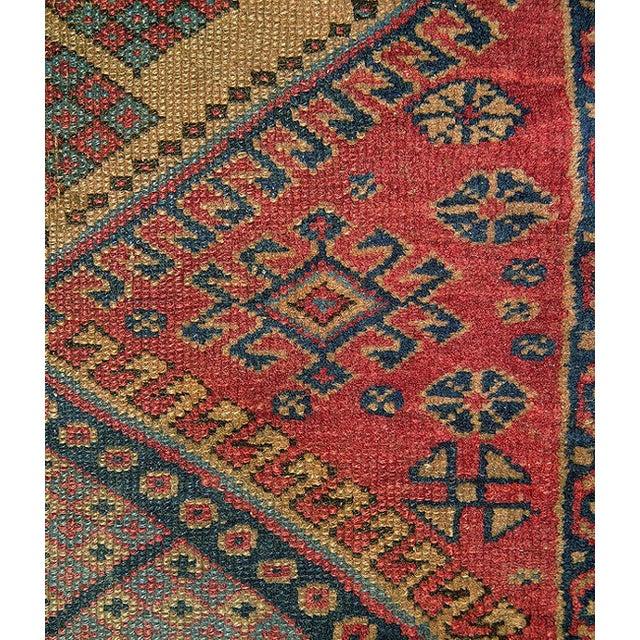 Old Caucasian Oriental Rug - 2′10″ × 3′11″ - Image 7 of 9