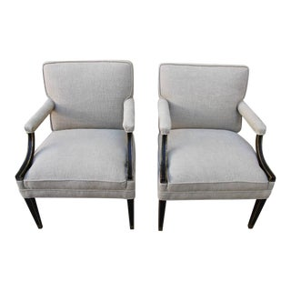 19th Century Regency Style Armchairs - A Pair