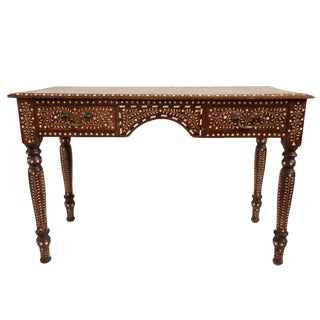 Colonial Inlay Teak Desk