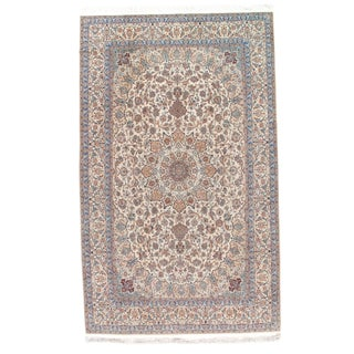 "Persian Nain Silk & Wool Rug - 6'9"" X 11'"