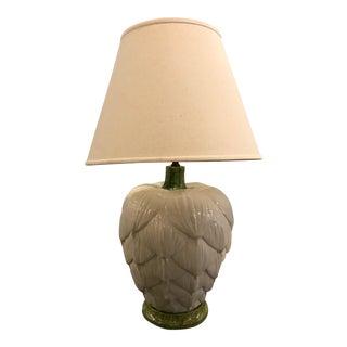 1960's Ceramic Artichoke Lamp