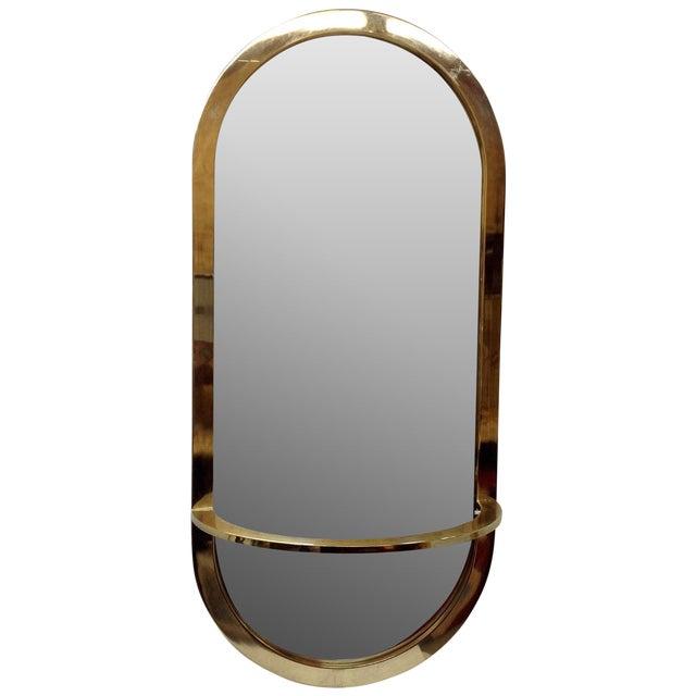 Milo Baughman DIA Brass Console Mirror - Image 1 of 3