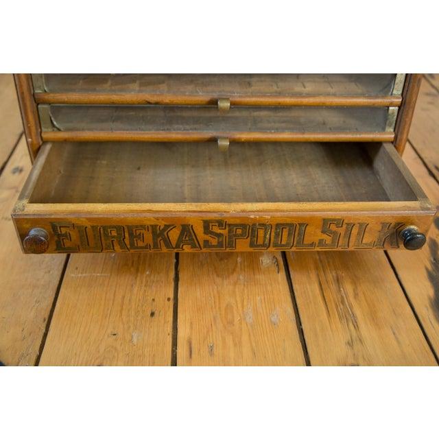 Antique Victorian Eureka Silk Spool Cabinet - Image 6 of 8