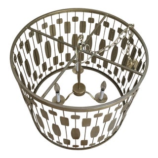 Contemporary Mid-Century Style Drum Form Light Fixture