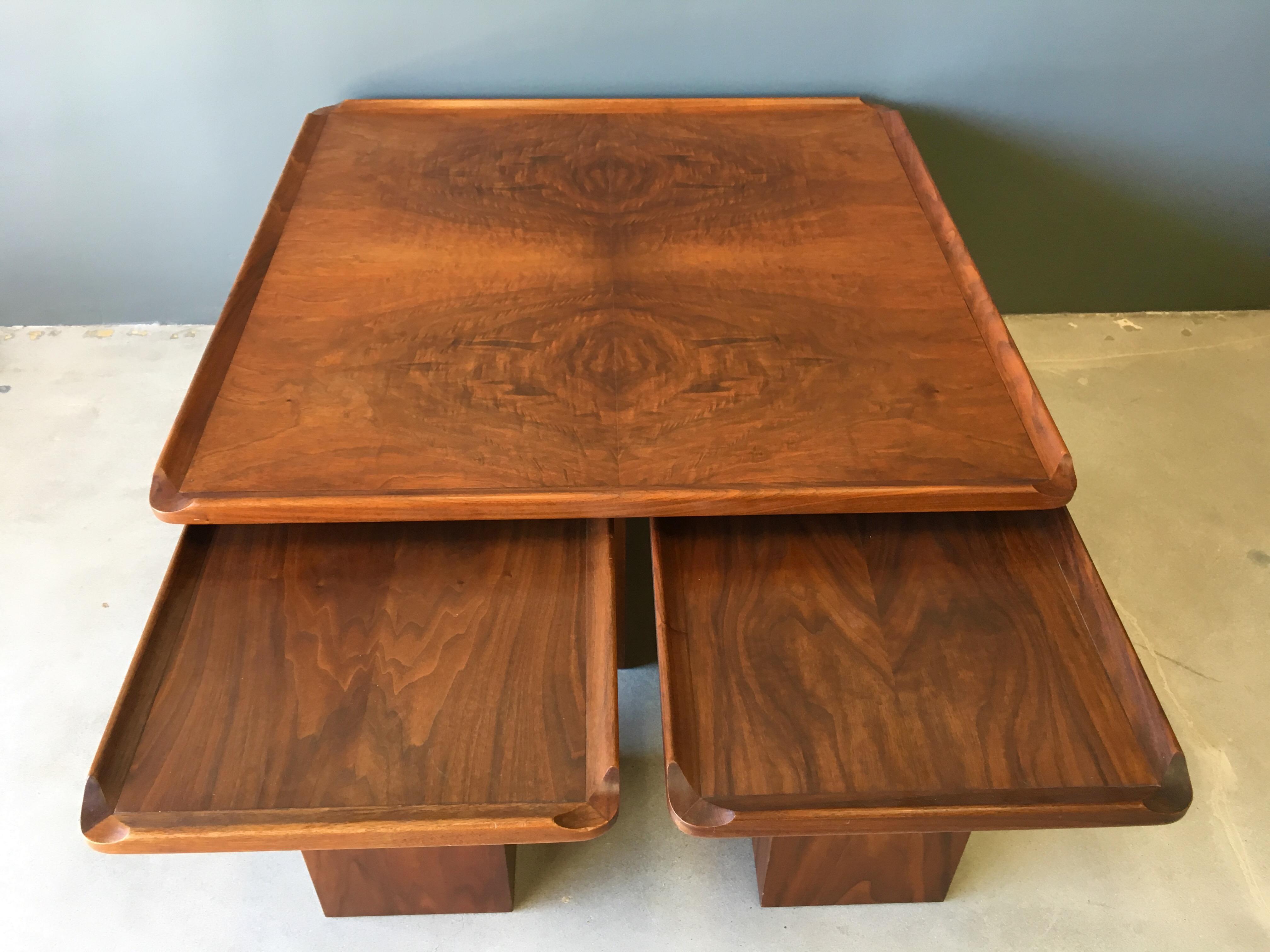 Brown Saltman Mid Century Coffee U0026 Nesting Tables   5 Pieces   Image 9 Of
