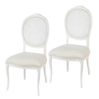Sarreid Ltd Stucco White 'Abrella' Chairs - A Pair