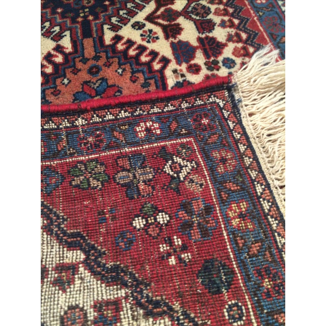 """Hand-Knotted Persian Tribal Rug - 1'10"""" X 2'11"""" - Image 4 of 4"""