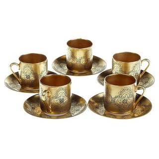 Arabia Gilda Espresso Coffee Cups -Set of 5