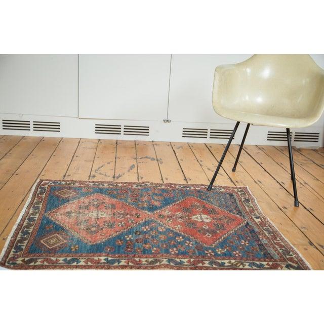 "Distressed Antique Persian Square Rug - 3'3""x3'10"" - Image 3 of 7"