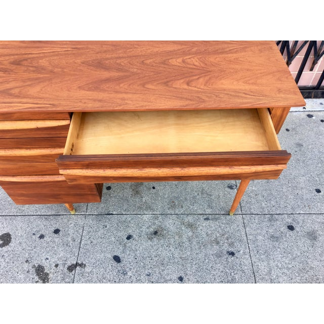 Vintage Mid-Century Wood Desk - Image 9 of 9