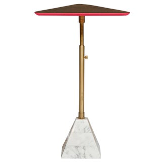 Erickson Aesthetics Pyramid Base Cocktail Table with Telescoping Swivel Post