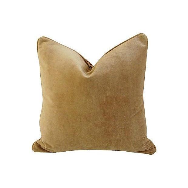 Custom Safari Leopard Velvet Pillows - a Pair - Image 5 of 7