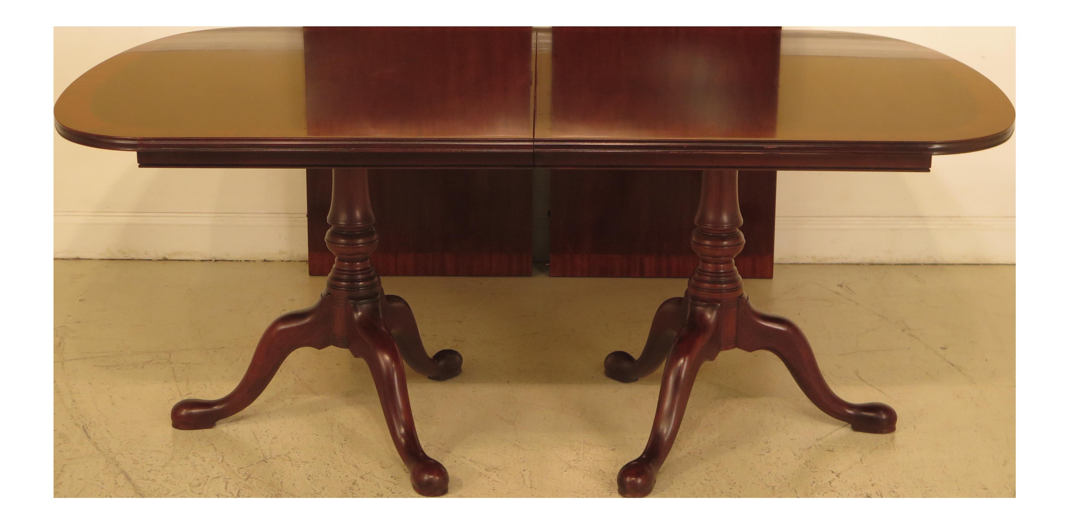 Henkel Harris Banded Mahogany Dining Room Table