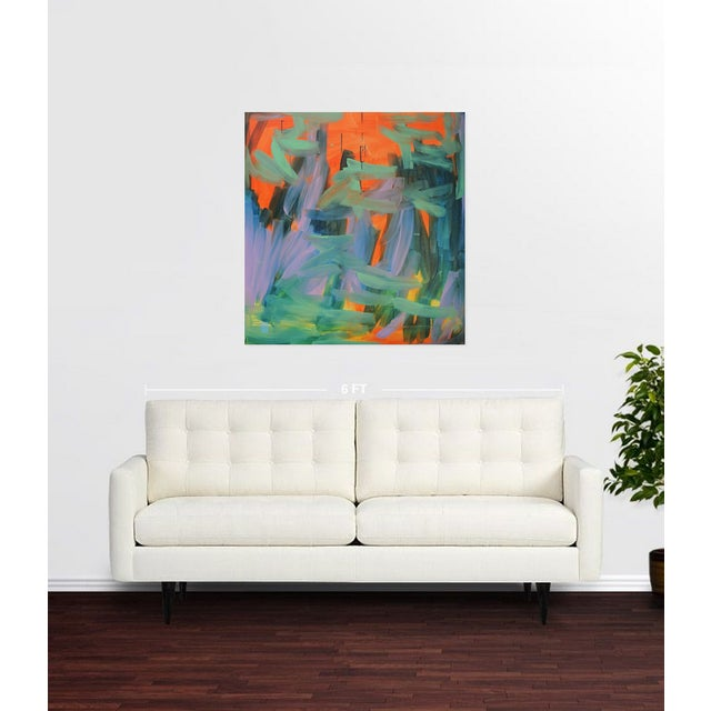 "Image of ""The Great Wall"" Abstract Painting"
