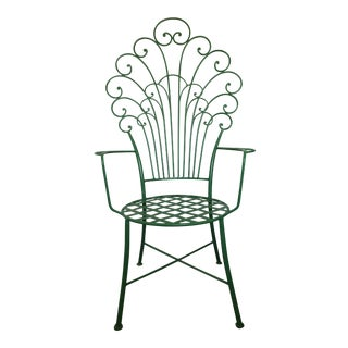 Metal Peacock Accent Chair