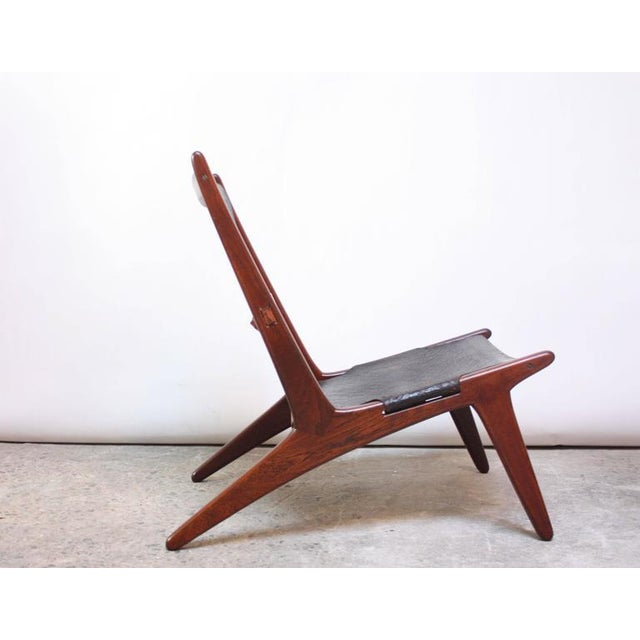 Swedish Teak and Leather Hunting Chair Model #204 by Uno and Östen Kristiansson - Image 11 of 11