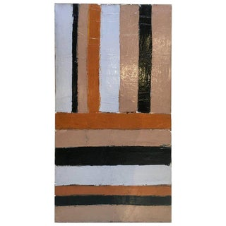 Hard Edge, Large Scale Abstract Oil Painting, By Artist Abe Lubelski, 1979