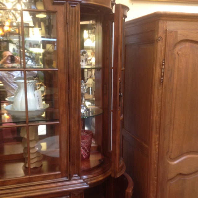 Image of Arched Sideboard With Lighted Hutch