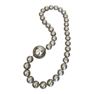 Oversized Stainless Steel Orb Necklace