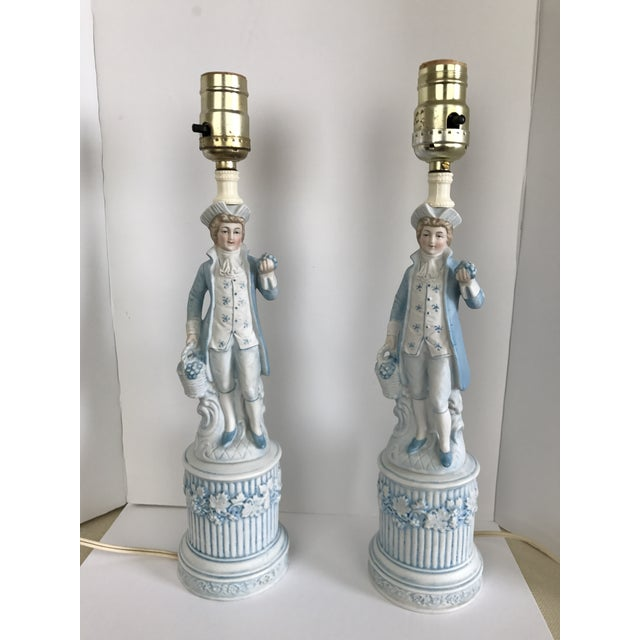 Ceramic Colonial Men Lamps by Duray - a Pair - Image 2 of 4