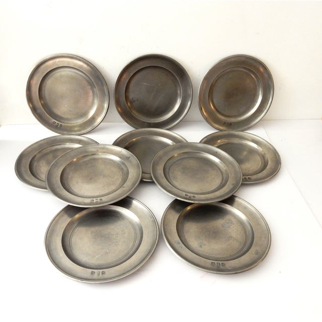 Traditional Pewter Sous Plats - Set of 10 - Image 2 of 9