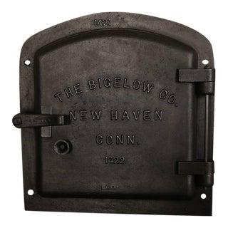Original, Antique Industrial Bigelow Boiler Door