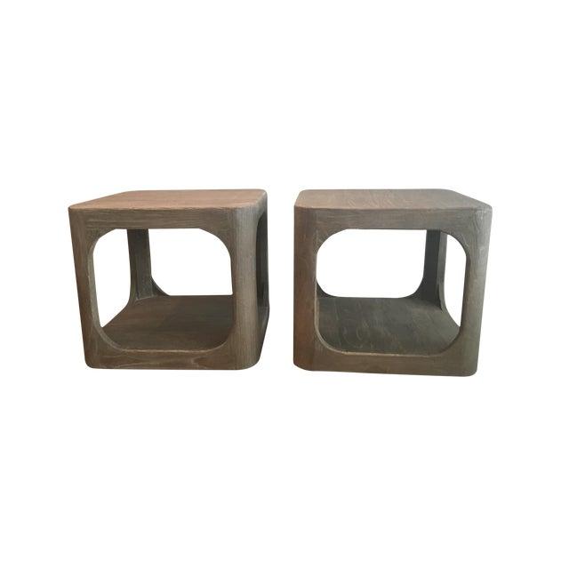 Restoration Hardware Mertens Side Tables- A Pair - Image 1 of 3
