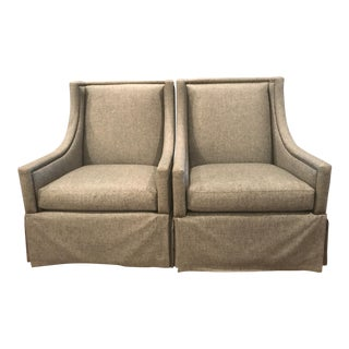 Bernhardt Colton Swivel Chairs - a Pair