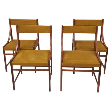 Modern italian side or dining chairs 4 chairish for Modern dining chairs ireland