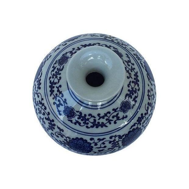 Image of Blue & White Asian Porcelain Vase
