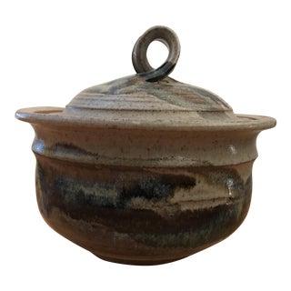 Vintage Drip Glazed Pottery Tureen