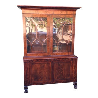 Antique Regency Period Flame Mahogany Library Bookcase .1828