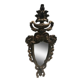Italian Carved Wood Rococo Mirror