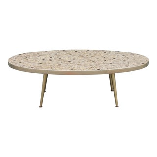1950's Mid-Century Tiled Oval Coffee Table