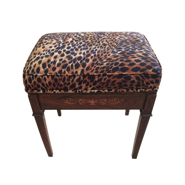 Animal Print Mahogany Bench Chairish