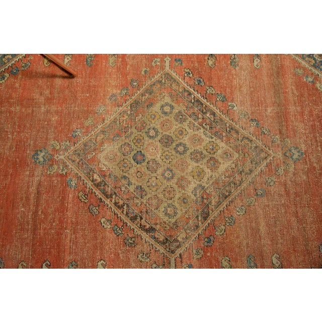 "Antique Fereghan Rug - 3'7"" X 6'1"" - Image 4 of 8"