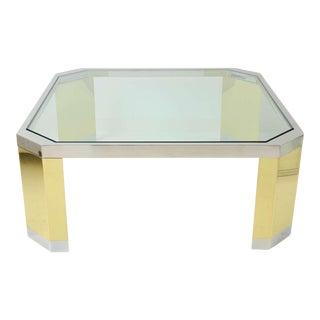 Ron Seff Polished Brass and Steel Coffee Table