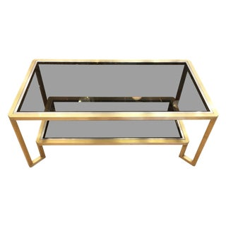 Brass Coffee Table in the Manner of Romeo Rega