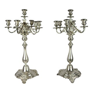 Silver-Plated Candelabra Candlesticks