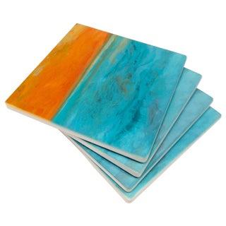 "Ocean Inspired Coasters, ""DayDream"" Sandstone - 4"