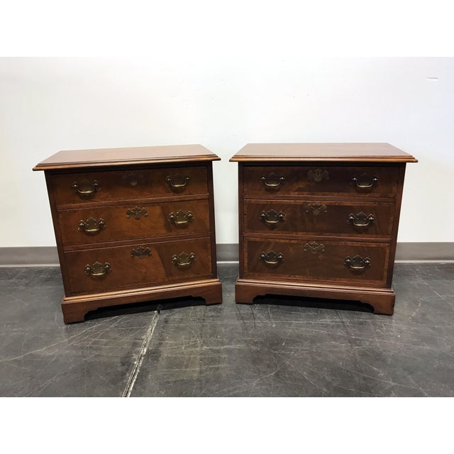 Mahogany Chippendale Bedside / Chairside Chests - Pair - Image 2 of 11