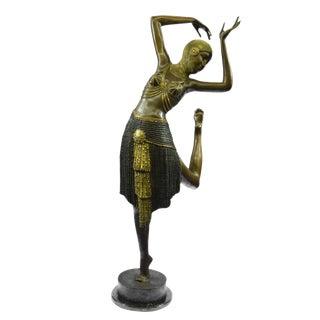 Cast Bronze Dancer Figure