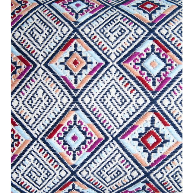 Image of Navy & Red Handwoven Guatemalan Pillow