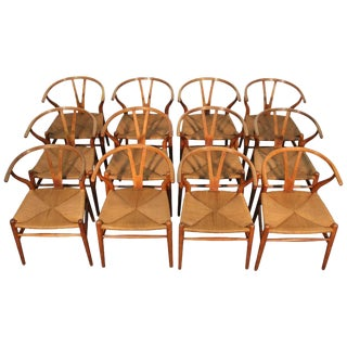 Hans Wegner Wishbone Chairs - Set of 12
