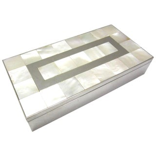 Mother of Pearl and Steel Catchall Box