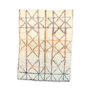 "Vintage Beni Ourain Moroccan Rug - 4'3"" x 5'6"""