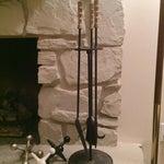 Image of Mid-Century Modern Iron Fireplace Tools