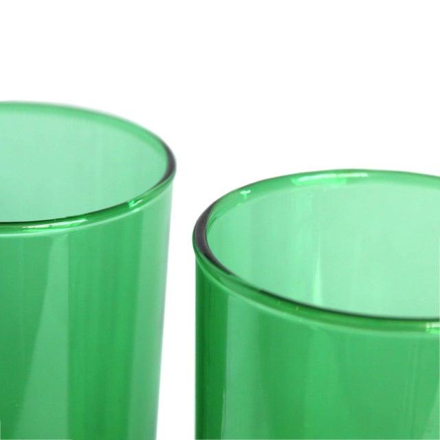 Vintage Green Drinking Glasses- Set of 4 - Image 6 of 6